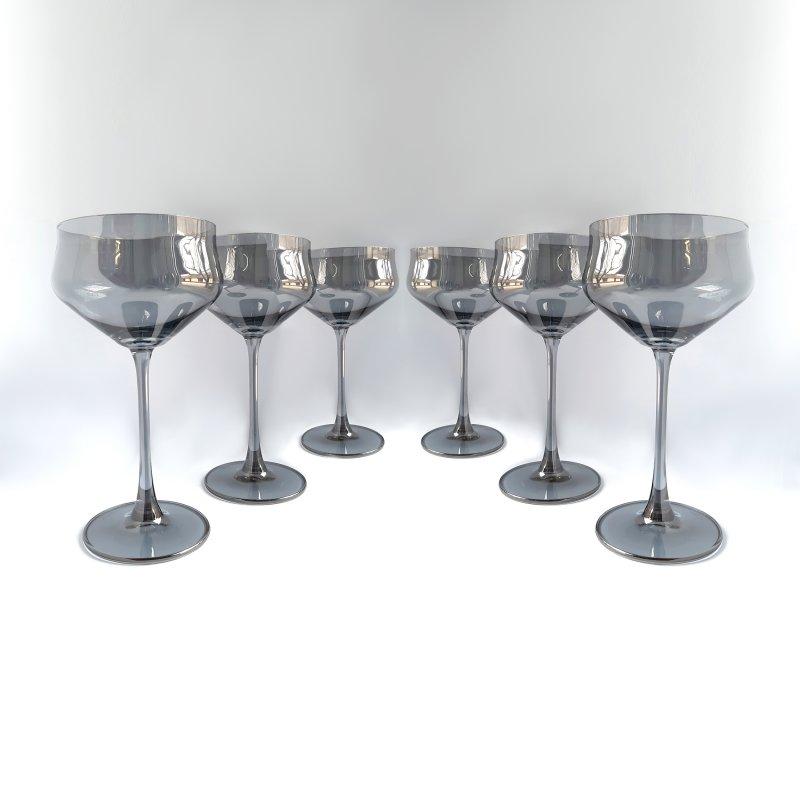Купить Набор бокалов для мартини Bohemia Alca 235 мл 2SI12/00000/235 графит