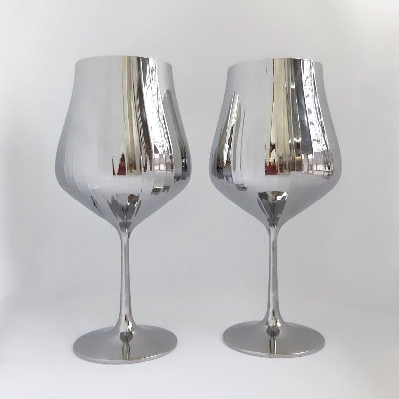 Купить Набор бокалов для вина Bohemia Tulipa optic 40894/36 600 мл хром