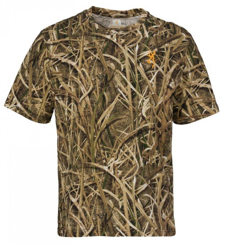 Футболка для охоты и рыбалки с коротким рукавом Browning Wasatch T-Shirt - Mossy Oak Blades