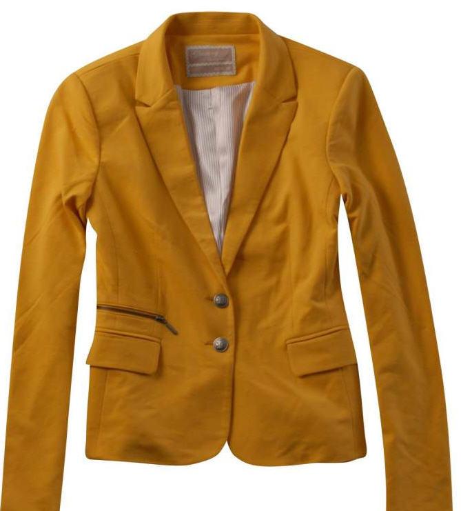 Купить Пиджак женский трикотажный, состав: 60% полиэстр, 35% хлопок, 5% спандекс, размер: S-XL. Одежда деловая