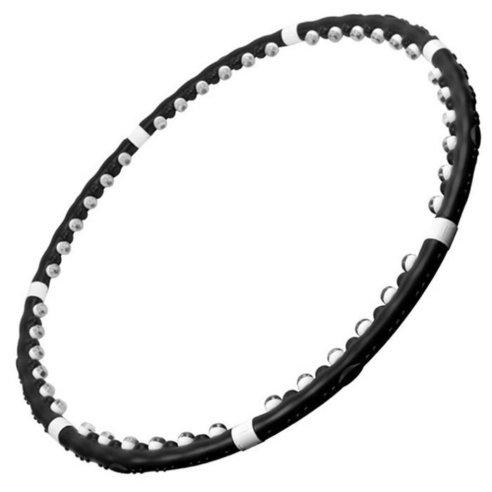 Купить Хулахуп обруч массажный hula hoop Massaging exerciser, черный