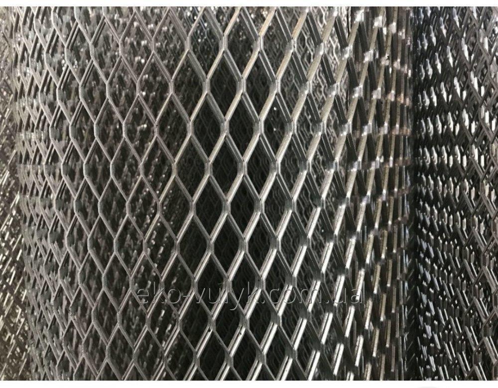 Сітка просічно-витяжна, осередок 2х8, розмір 500х1500-0,5 оцинкована