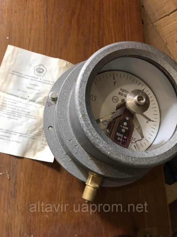 Купить Мановакуумметр электроконтактный во взрывонепроницаемой оболочке ВЭ-16Рб -0,1+0,3 МПА (-1+3 kgf/см2)