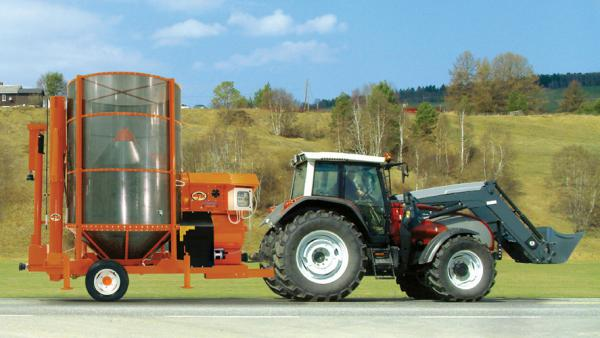 Зерносушилка Agrex PRT75/M (Bio-GAS) с ВОМ