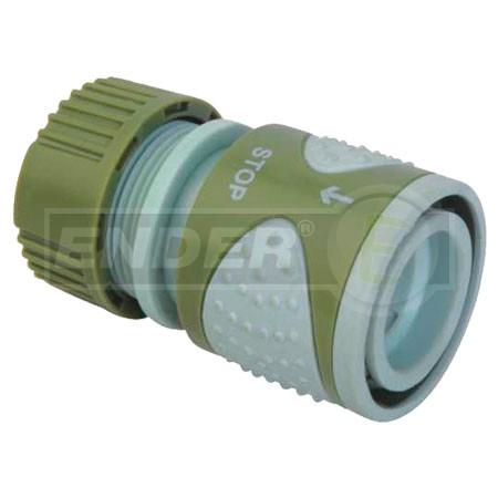 Купить Коннектор шланга садового 1/2 дюйма с клапаном (серия Soft), арт. 49С6602