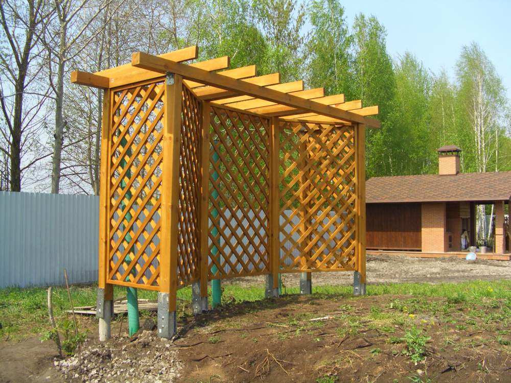 Купить Пергола деревянная подставка, поддержка для вьющихся садовых растений