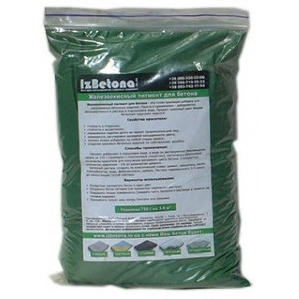 Купить Пигмент для бетона Зеленый 835 750 гр
