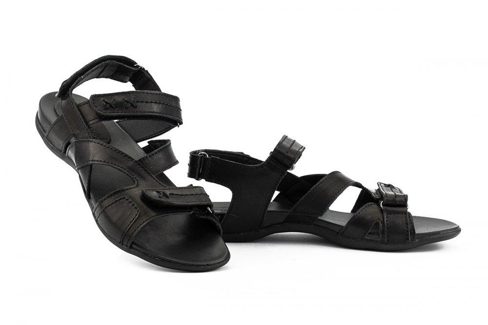 Купить Подростковые босоножки кожаные летние черные-черные StepWey Gamer 7561