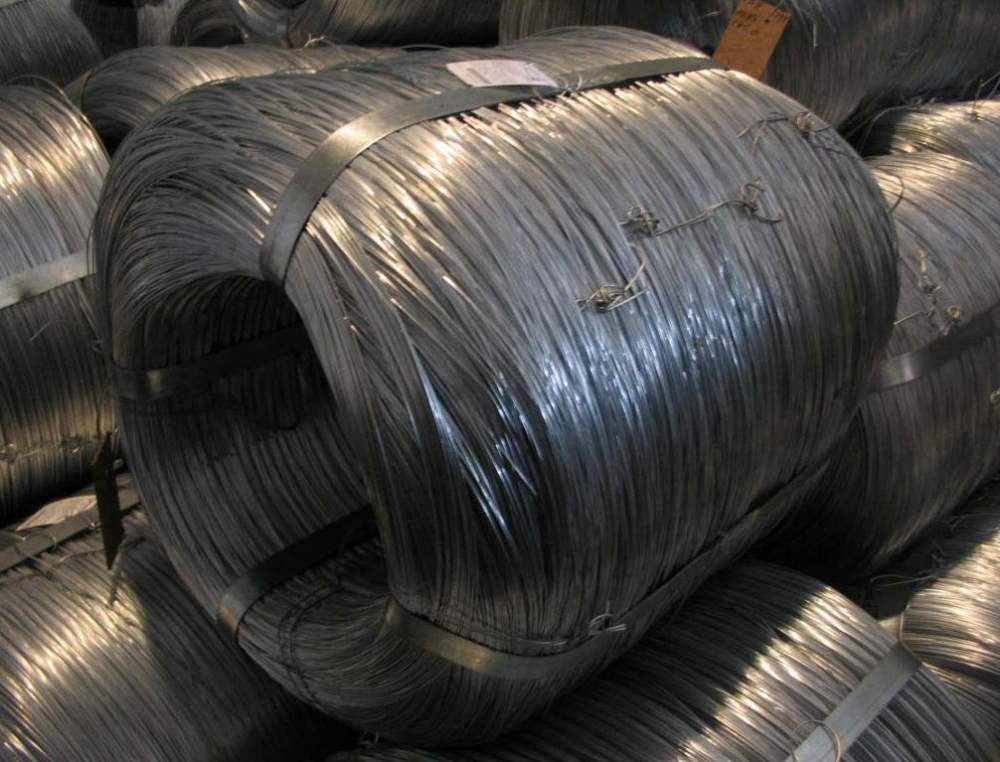 Проволока низкоуглеродистая оцинкованная твердая термически необработанная с пределом прочности 560-900 Н/М2 по ГОСТ 3282-74