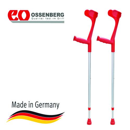 Купить Подлокотный костыль Ossenberg Klassiker, с эргономичной рукояткой, телескопический, цвет красный, макс.