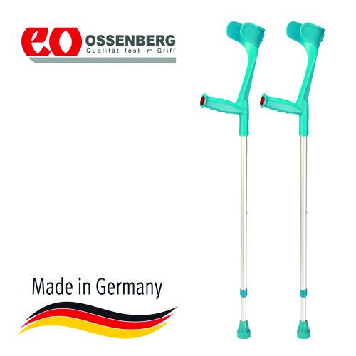 Купить Подлокотный костыль Ossenberg Klassiker, с эргономичной рукояткой, телескопический, цвет бирюзовый, макс.