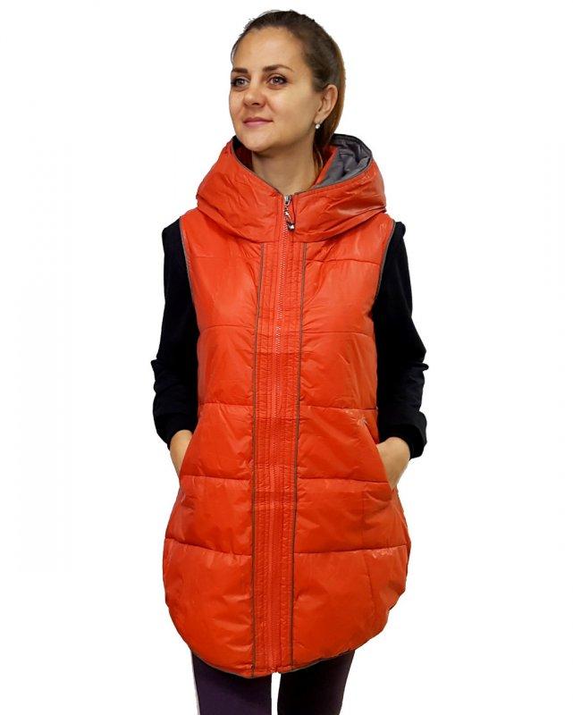 Купить Женская удлиненная безрукавка,Женский демисезонный жилет