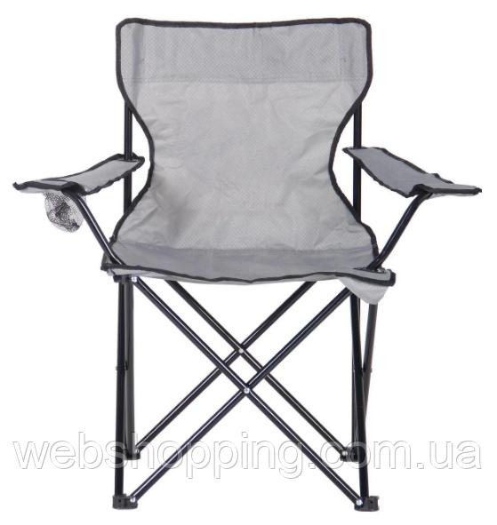 Купить Раскладной туристический рыбацкий стул кресло паук со спинкой с подлокотниками для рыбалки и пикника серый