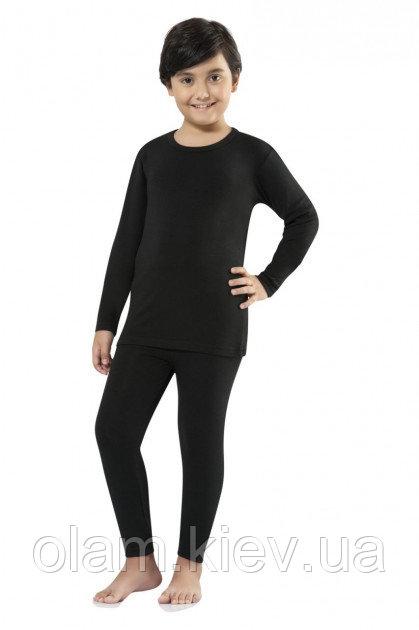 Купить Термокофта для девочек и мальчиков черная 146-152