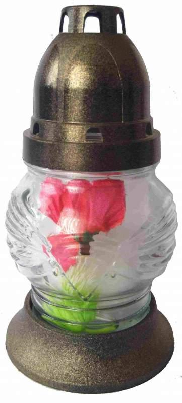 """Лампадка стеклянная """"Тюльпан (маленький) с цветком"""""""