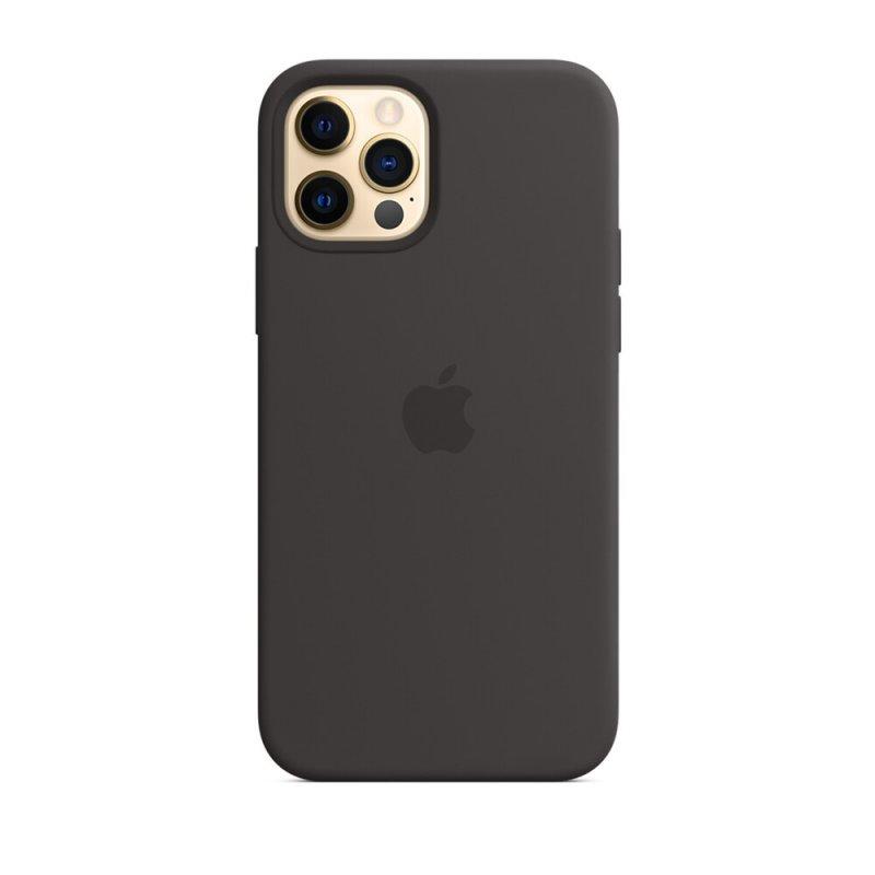Cиликоновый Чехол Silicone Case для iPhone 12 Pro Max Черный