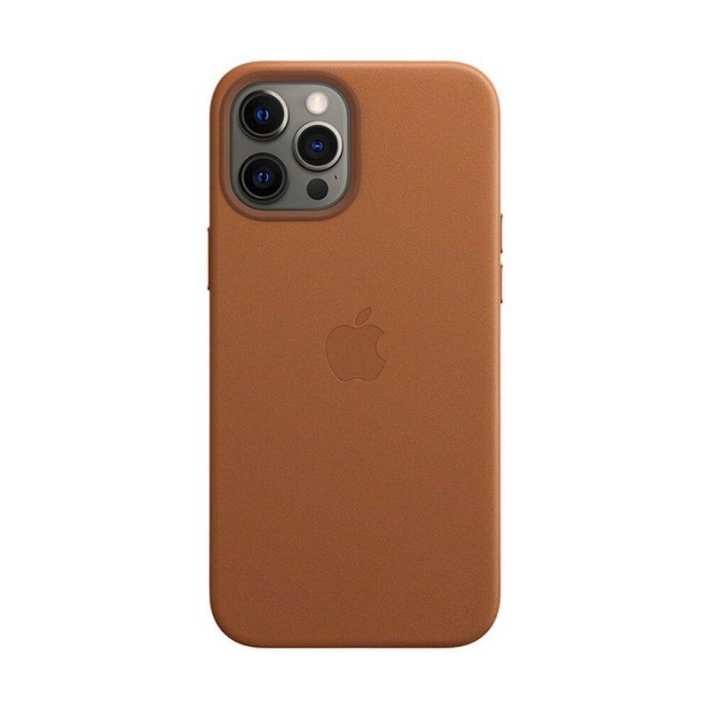 Кожаный Чехол для iPhone 12 | 12 Pro Genuine Leather Case MagSafe Коричневый