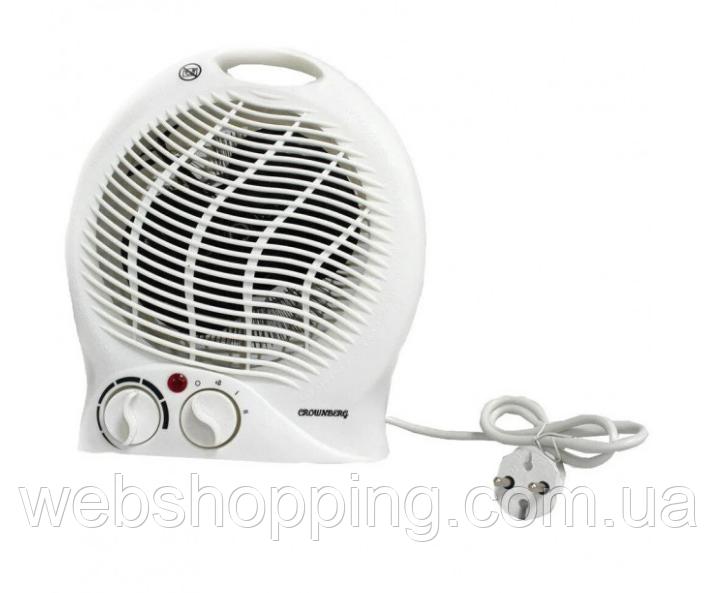 Купить Тепловентилятор электрический бытовой дуйка вентилятор для обогрева комнаты Crownberg CB7746 3000 Вт