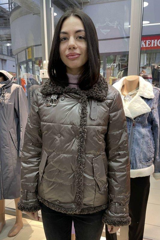 Купить Стильная куртка пилот Vivilona (Max Mara) 162 цвет кофе 3XL