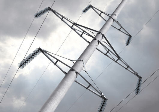 Buy Support reinforced concrete for power lines