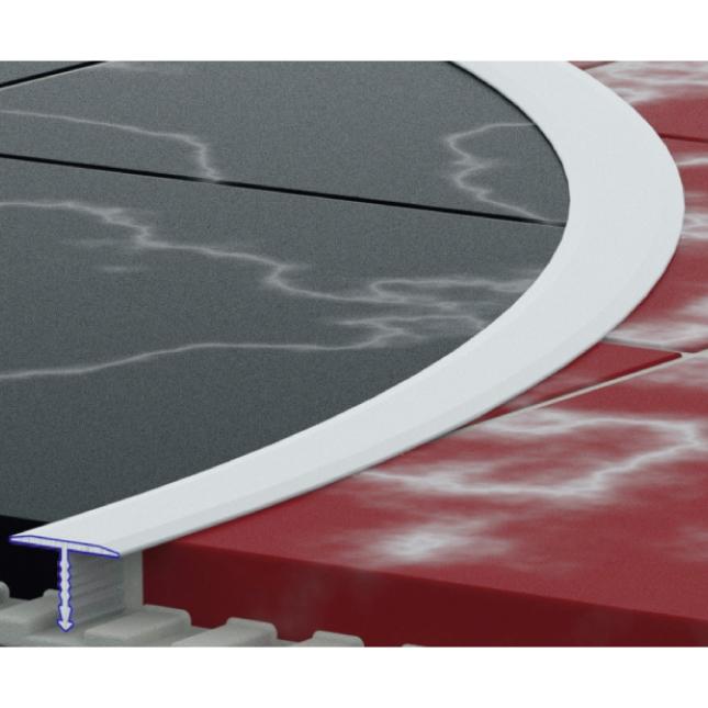 Купить Профиль стыковой гибкий 13мм тавровый, анодированный, цвет серебро, длина 2.7м