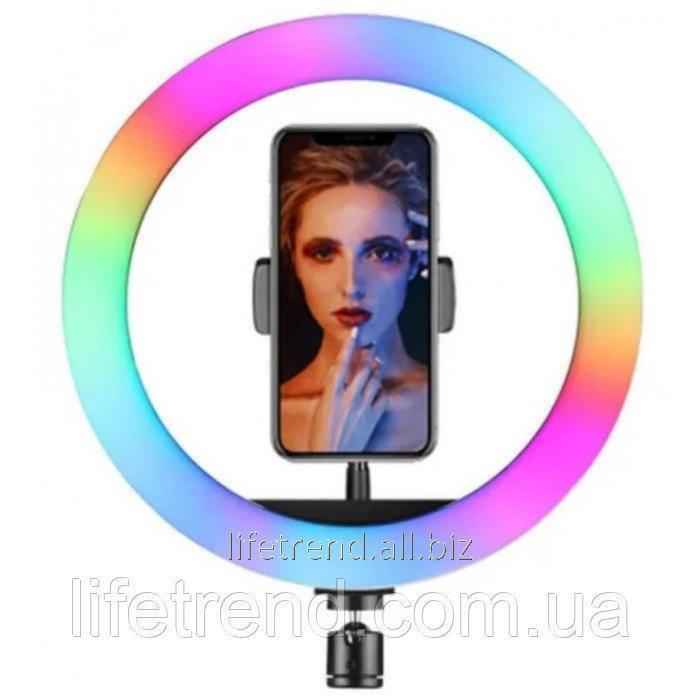 Купить Кольцевая LED RGB лампа 33 см 25 W с держателем для телефона селфи кольцо для блогера