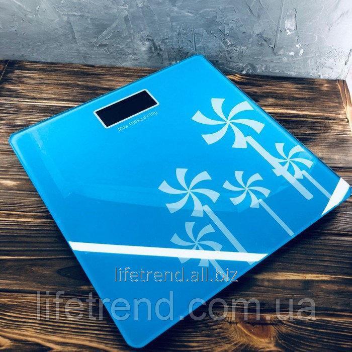 Купить Электронные напольные весы Domotec WH-1604 до 180 кг Синие