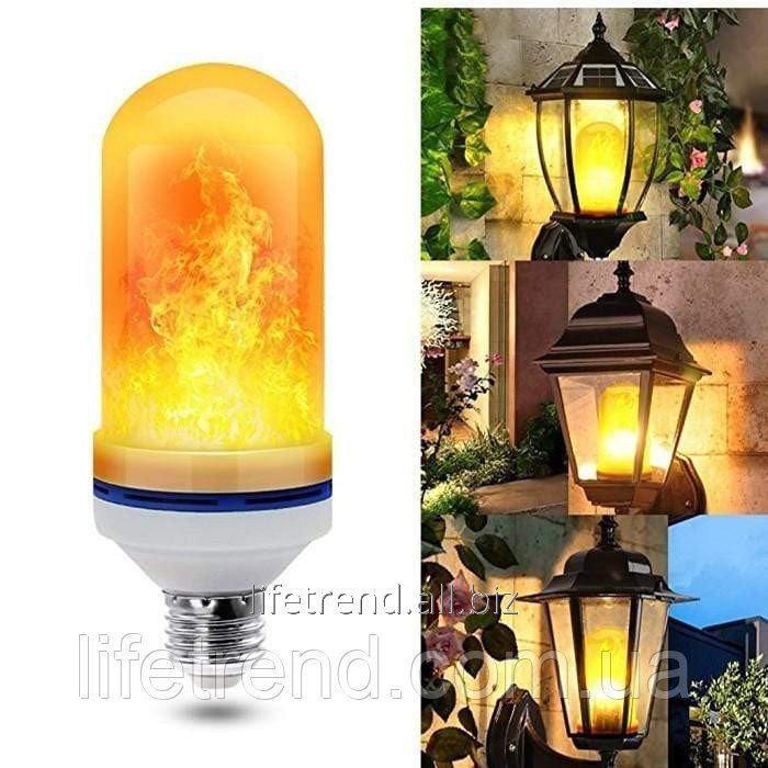 Купить Лампа LED Flame Bulb с эффектом пламени огня E27