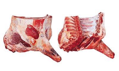 Beef in quarters
