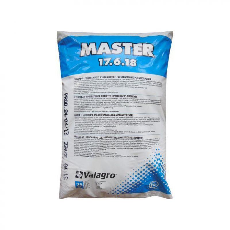 Купить Удобрение Мастер НПК 17+6+18+Micro (Master NPK) Valagro - 25 кг