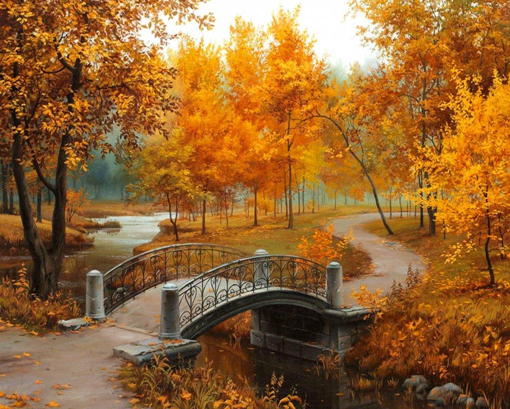 Купить TN008 Набор алмазной мозаики на подрамнике Осенние краски