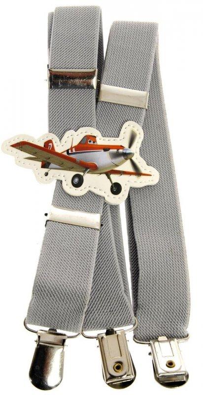 Купить Подтяжки детские серые KWM Самолеты 60 на 2,5 см