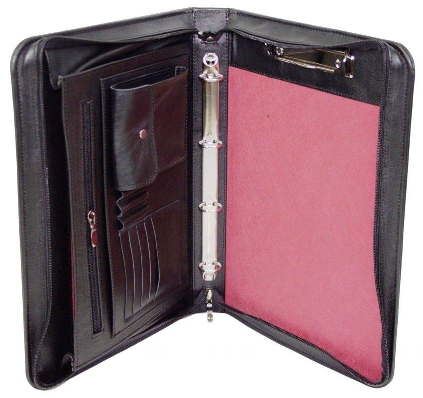 Купить Кожаная папка для документов Portfolio Port1001SB черная