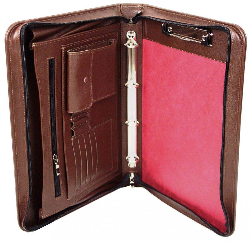 Купить Кожаная папка для документов Portfolio Port1001SB коричневая