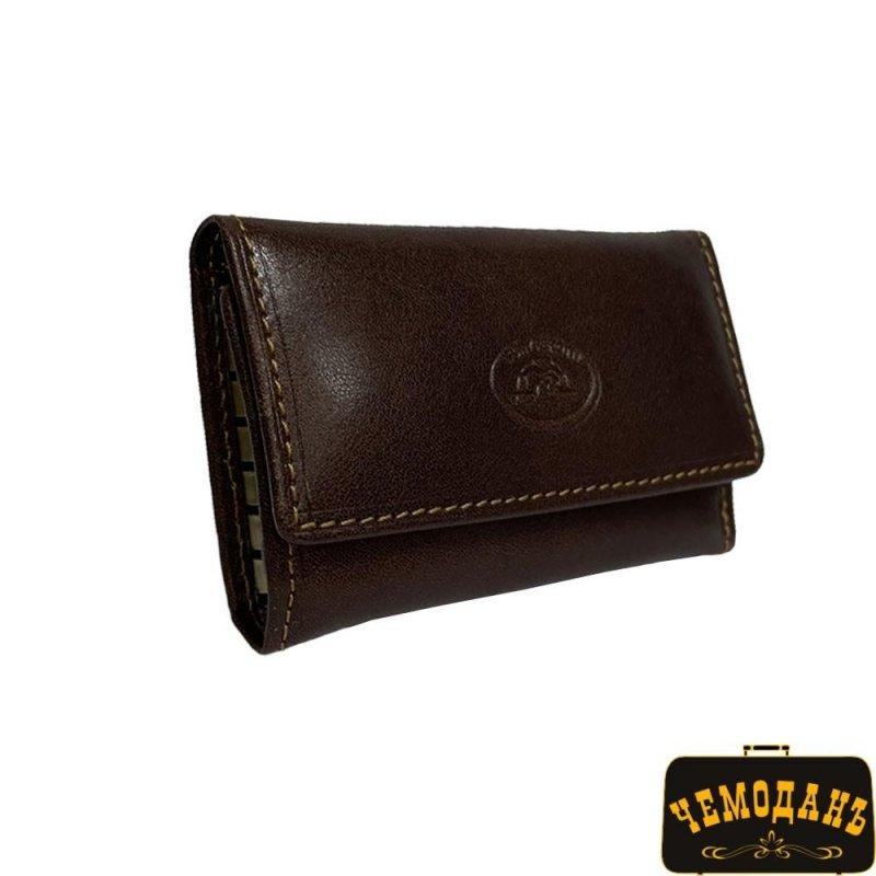 Купить Ключница кожаная Italico 1117 moro коричневый