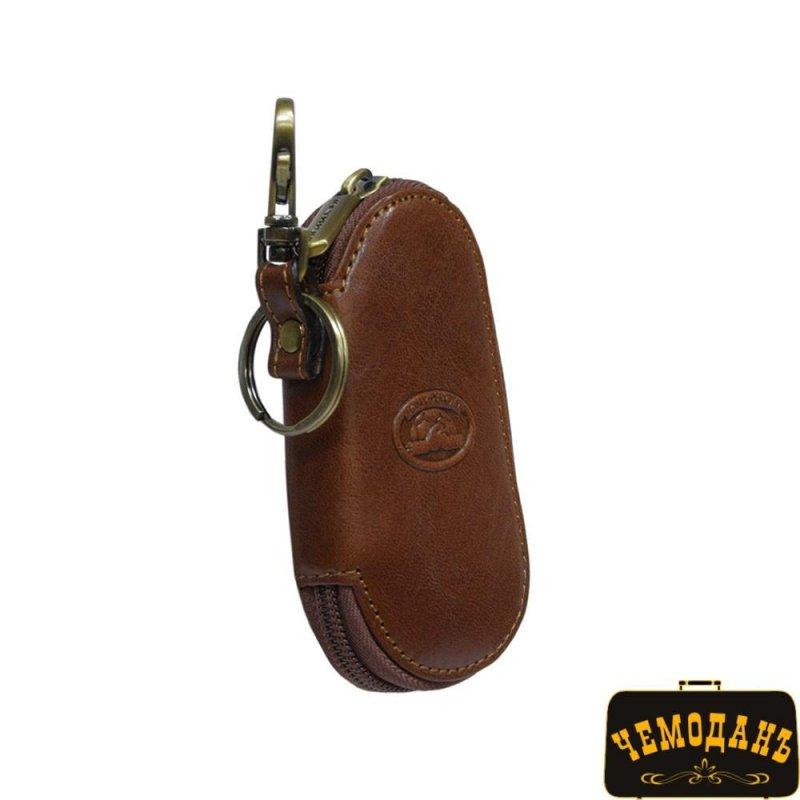 Купить Ключница кожаная Italico 1115 cognac коньячный