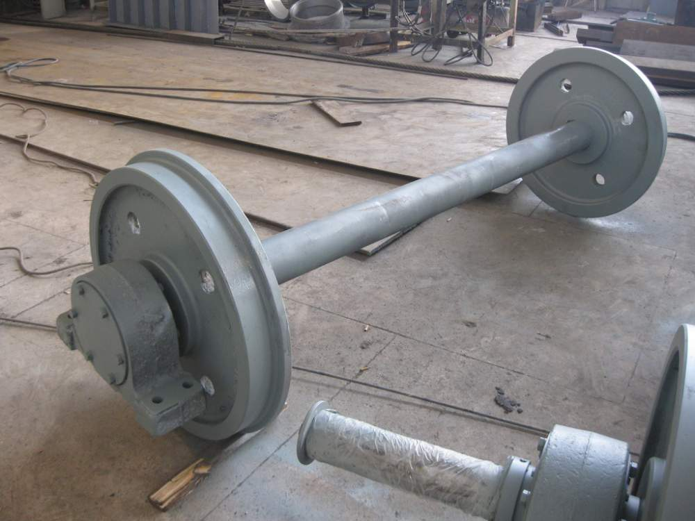 Set of running wheels of 800 mm
