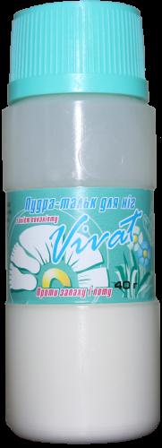 Пудра-тальк для ног Vivat с маслом эвкалипта (40г.)
