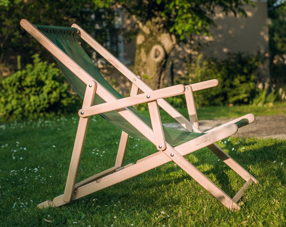 Шезлонг садово-парковый раскладной