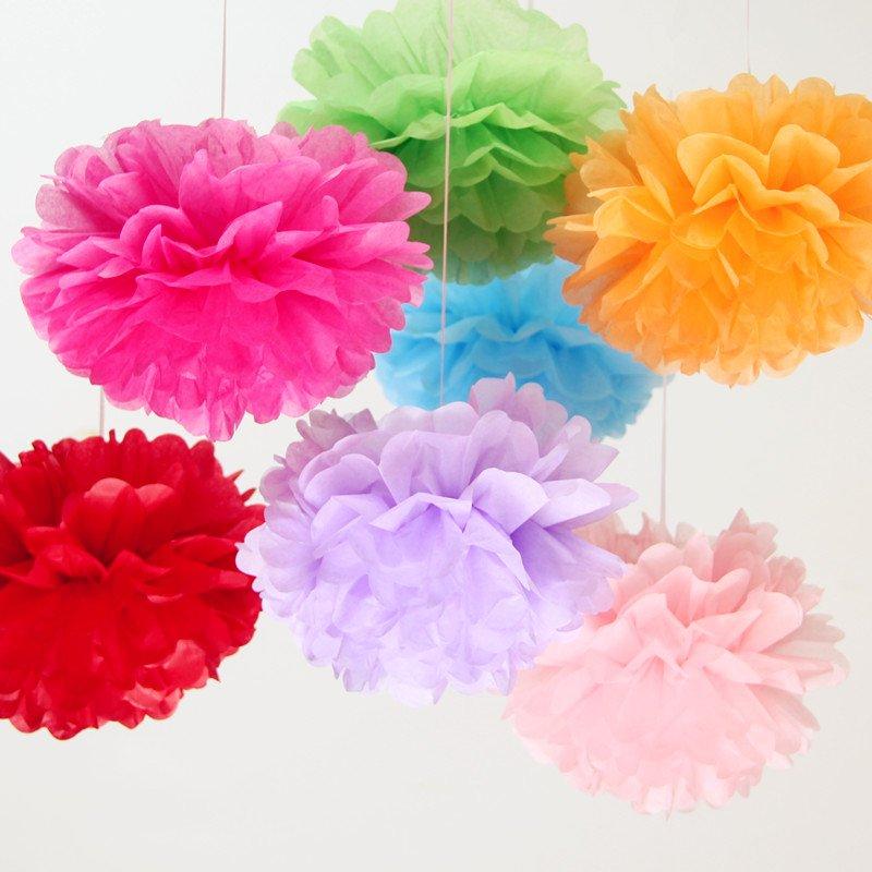 Как сделать цветные помпоны из бумаги
