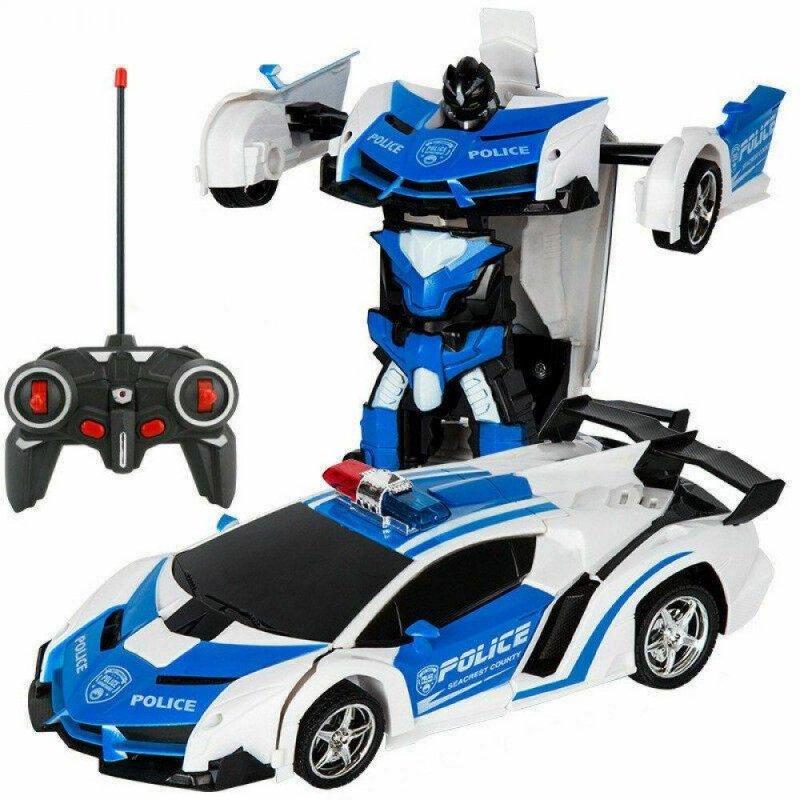 Купить Трансформер машинка WOW Lamborghini POLICE Robot Car Автобот с пультом радиоуправляемая модель 1:18
