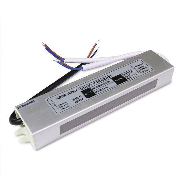 Купить Блок питания Biom для светодиодной ленты герметичный 60W 12V 5A серии FTR-60-12