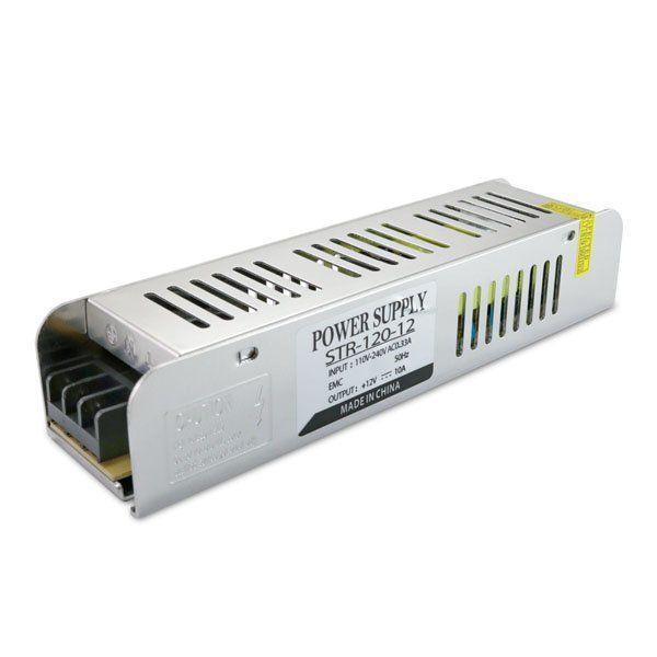 Купить Блок питания Biom для светодиодной ленты негерметичный узкий 120W 12V 10A серии STR-120-12