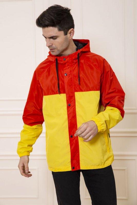 Купить Ветровка мужская 131R069-12 цвет Кирпично-желтый