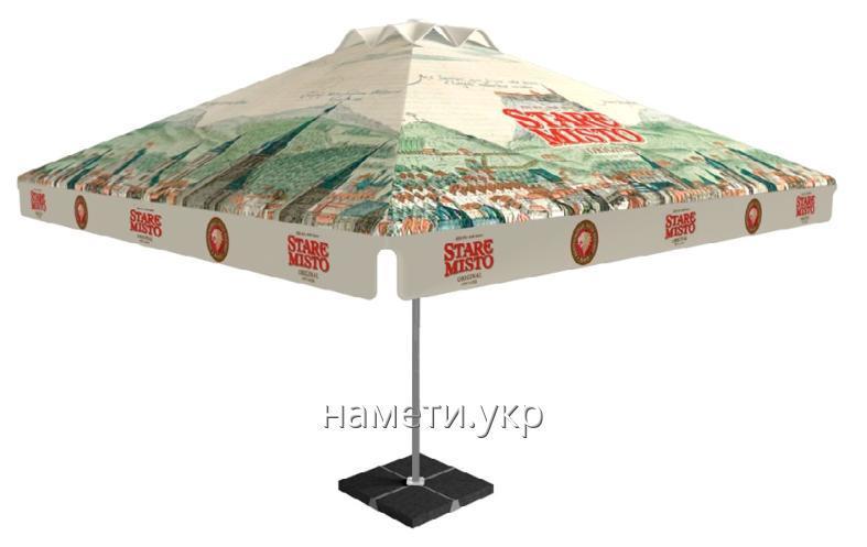 Уличный большой рекламный зонт для кафе под заказ