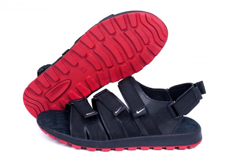 Купить Мужские кожаные сандалии Nike Summer life black (реплика)