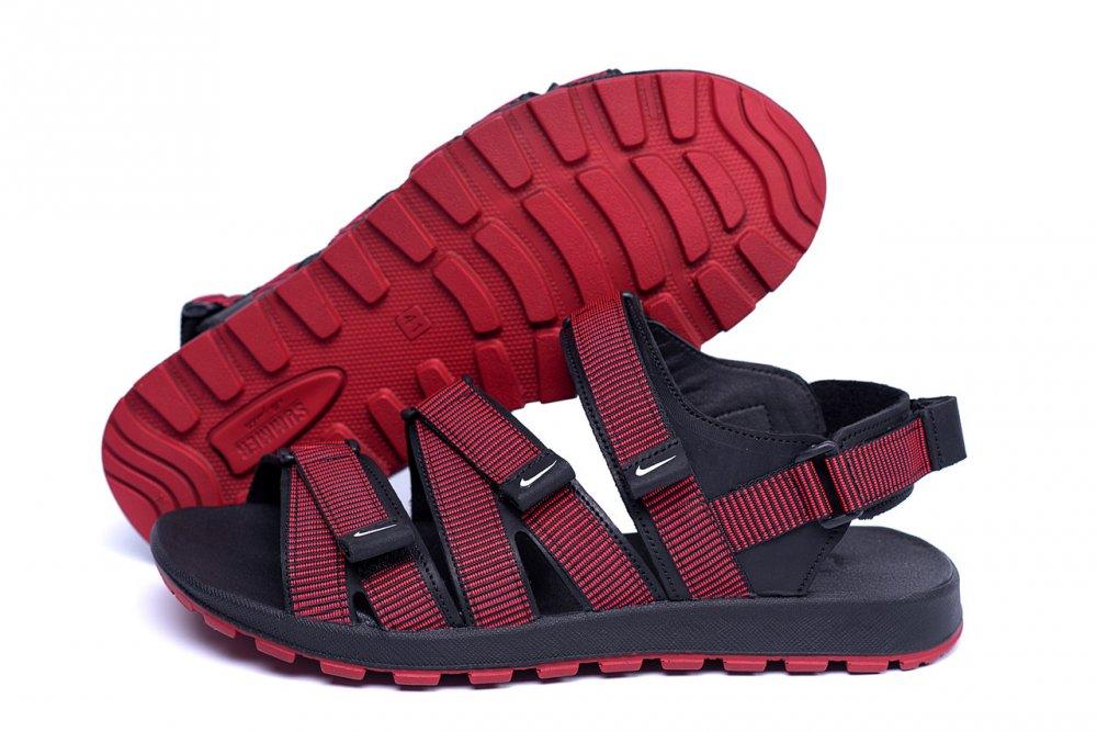 Купить Мужские кожаные сандалии Nike Summer life Red (реплика)