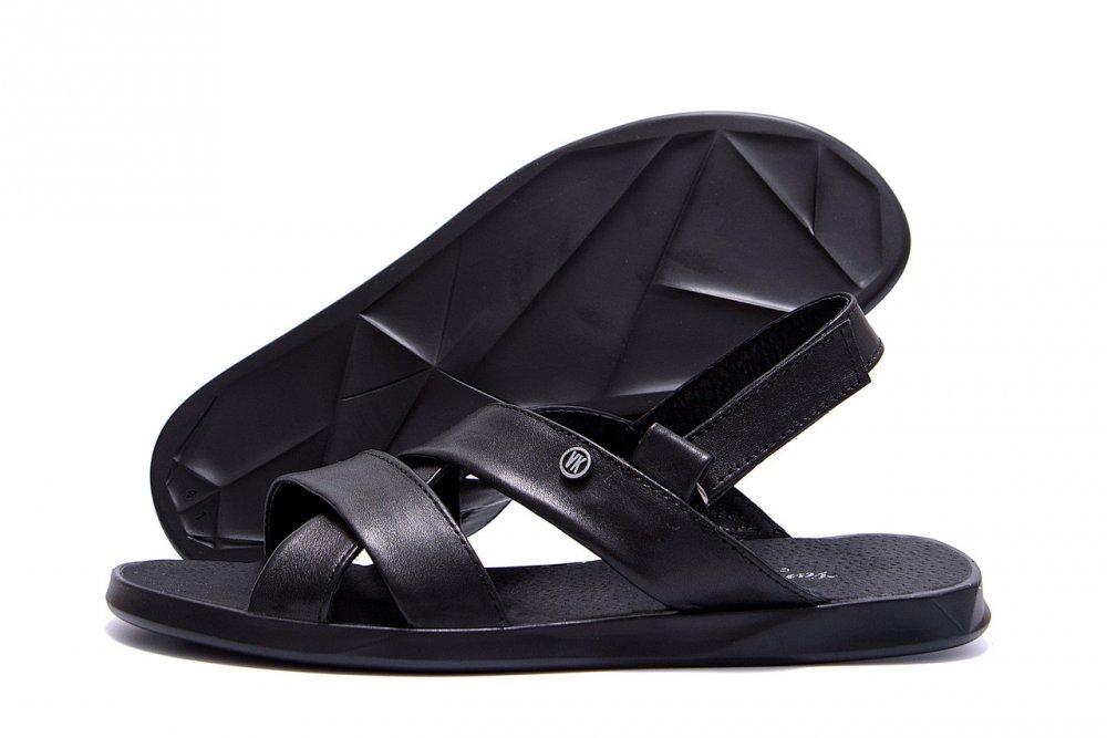 Купить Мужские кожаные сандалии VanKristi Black