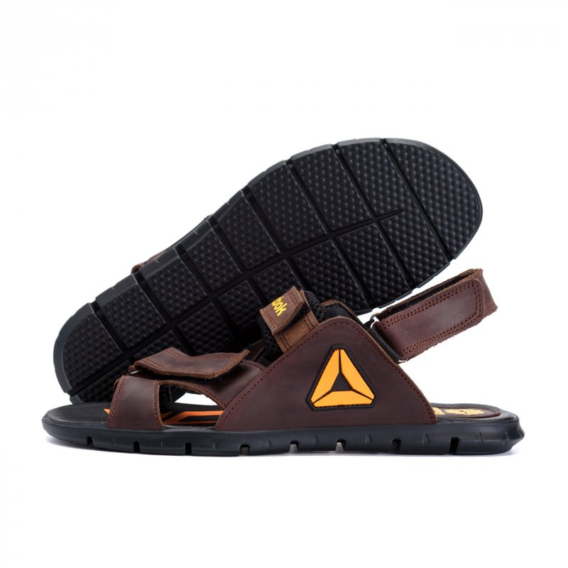 Купить Мужские кожаные сандалии Reebok NS brown (реплика)