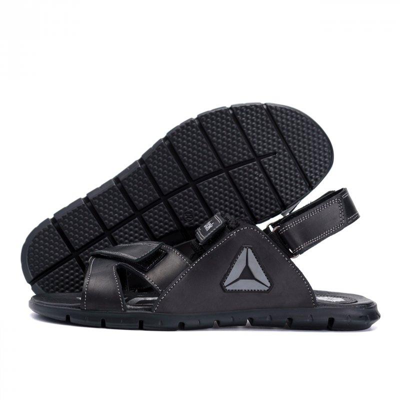 Купить Мужские кожаные сандалии Reebok NS Grey (реплика)